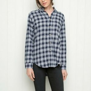 NWT Brandy Melville Blue and White Flannel
